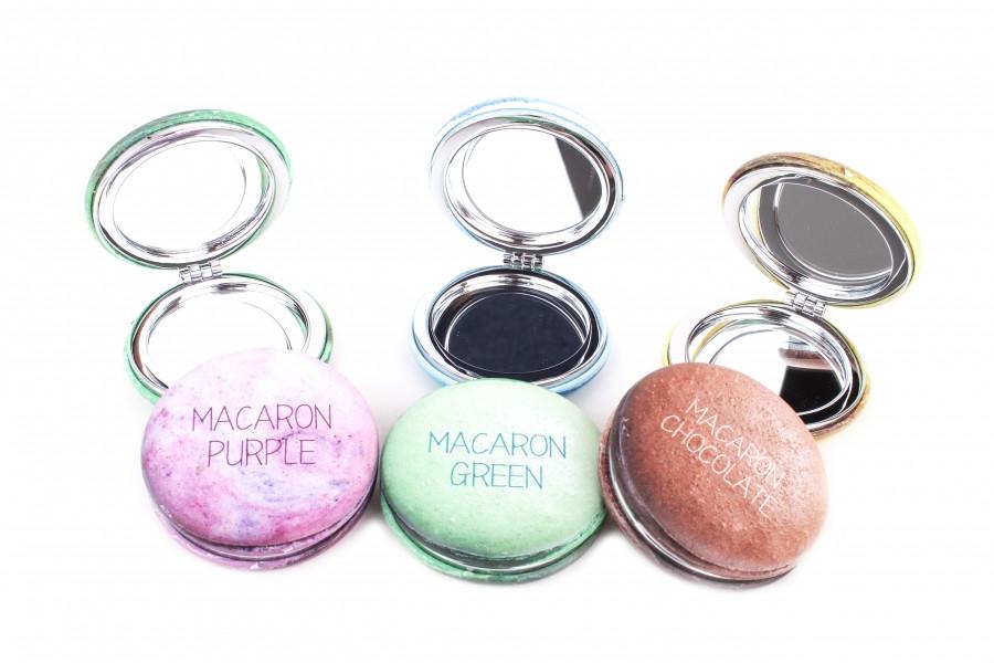 Зеркало для макияжа карманное Macaron Chocolate