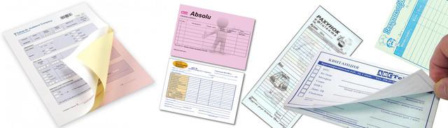 Печать самокопирующихся бланков, счетов официанта, накладных