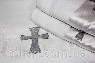 Крижма для хрещення турецька Сріблястий хрестик