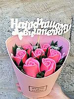 Букет з мильних квітів KupuiDarui Рожеві троянди 395 г (000201)