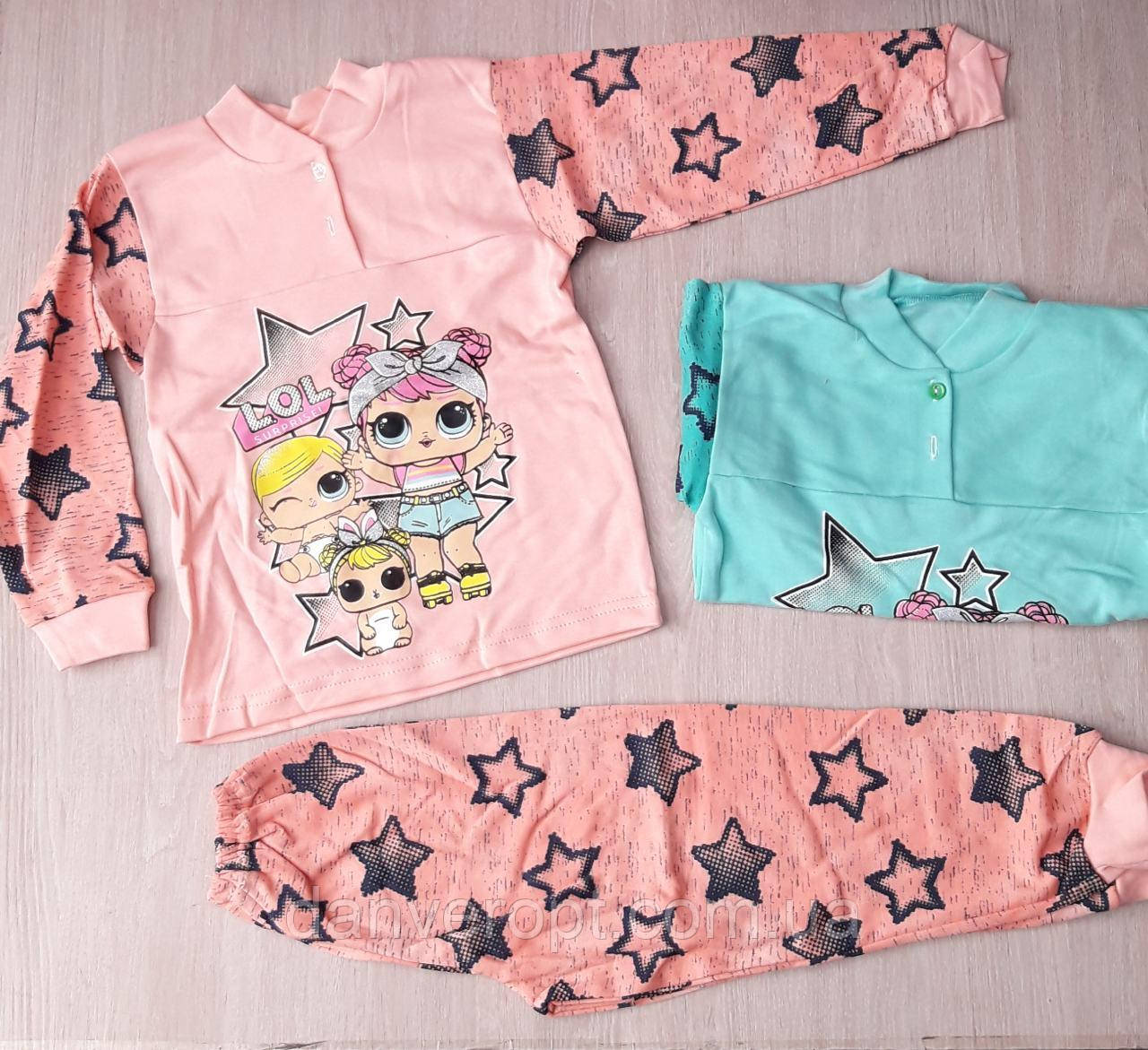 Пижама детская с ярким принтом на девочку 4-6 лет купить оптом со склада 7км Одесса