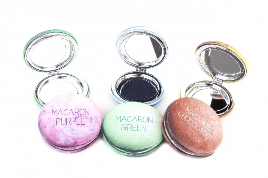 Зеркало для макияжа карманное Macaron Purple