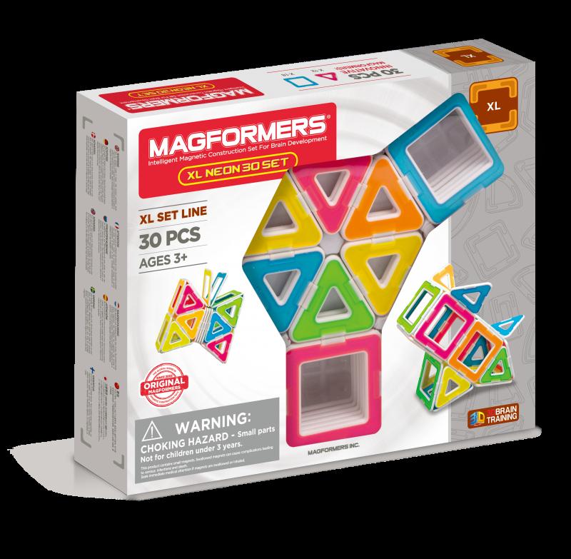 Магнитный конструктор Magformers Neon XL, 30 элементов (оригинал)