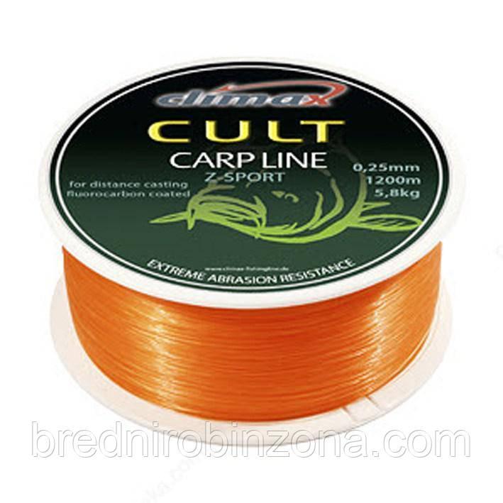Леска Climax CULT Carp Line Z-Sport Orange 0.25(1200m)