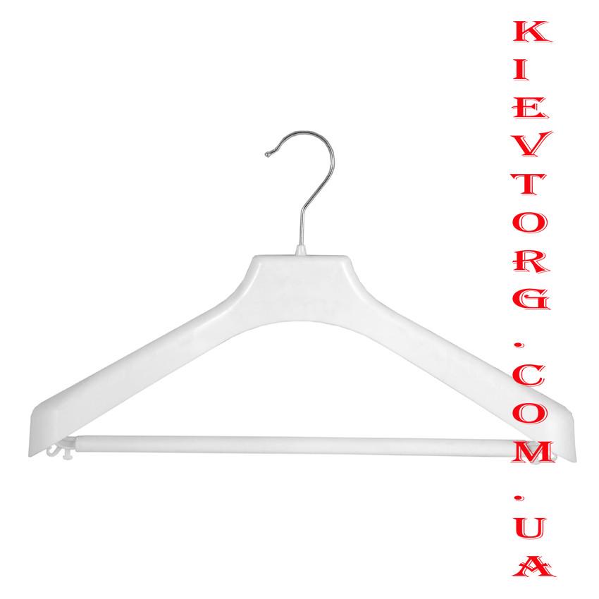 Плечики Вешалки для верхней зимней одежды широкие белые, 38 см
