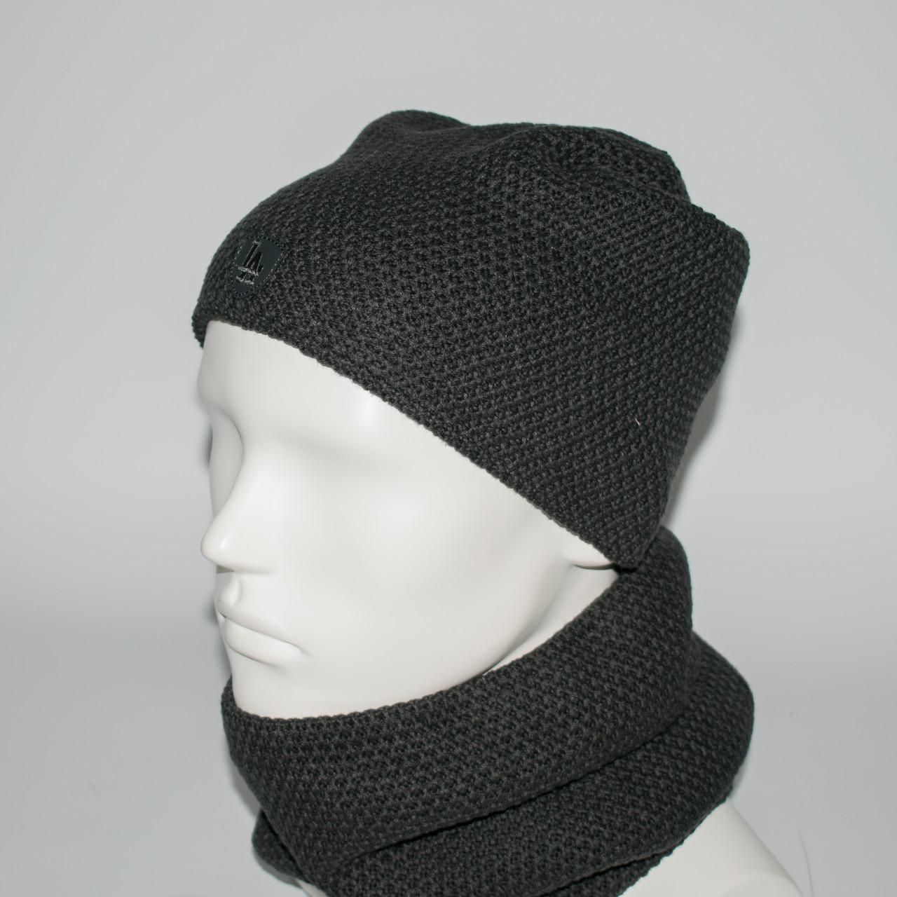 Мужской комплект шапка + бафф (код 00434)