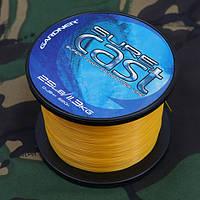 Леска карповая Sure CAST SURE CAST 8lb (3.6kg) SOLID YELLOW 0.25mm