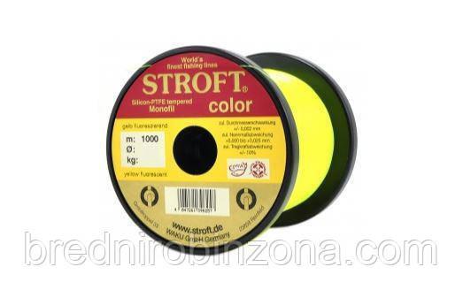 Карповая Леска STROFT fluo Yellow 1000m   0,30 мм - 7,7 кг