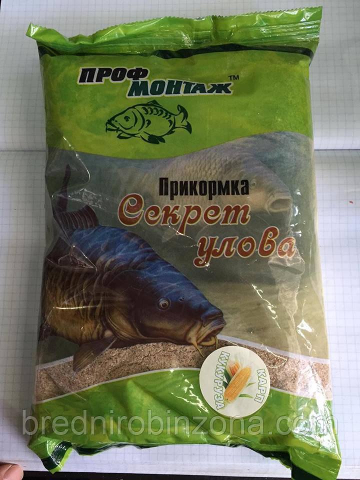 Прикормка Проф-монтаж Секрет улова кукуруза