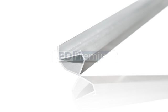 Алюминиевый LED профиль угловой LP-4 для светодиодной ленты оформление витрин