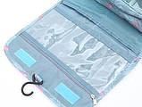Дорожная сумка-органайзер для косметики подвесная на крючке Фламинго, фото 7