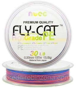 Шнур плетеный Япония Ntec Fly Cat 135m Multicolor