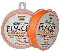 Шнур плетеный NTEC Fly Cat Orange 135 m