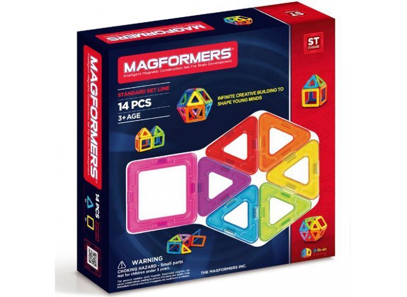 Магнитный конструктор Magformers Базовый набор, 14 элементов (оригинал)