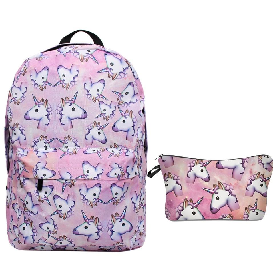 Школьный рюкзак с единорогом Unicorn розовый