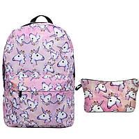 Школьный рюкзак с единорогом Unicorn розовый, фото 1