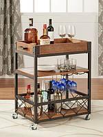 Передвижной сервировочный столик для вина-1