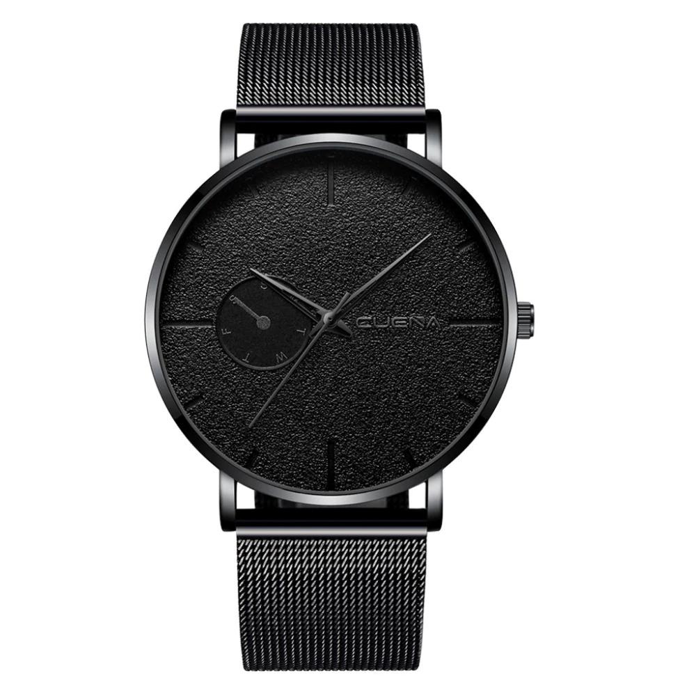 Наручные мужские часы с черным ремешком код 494
