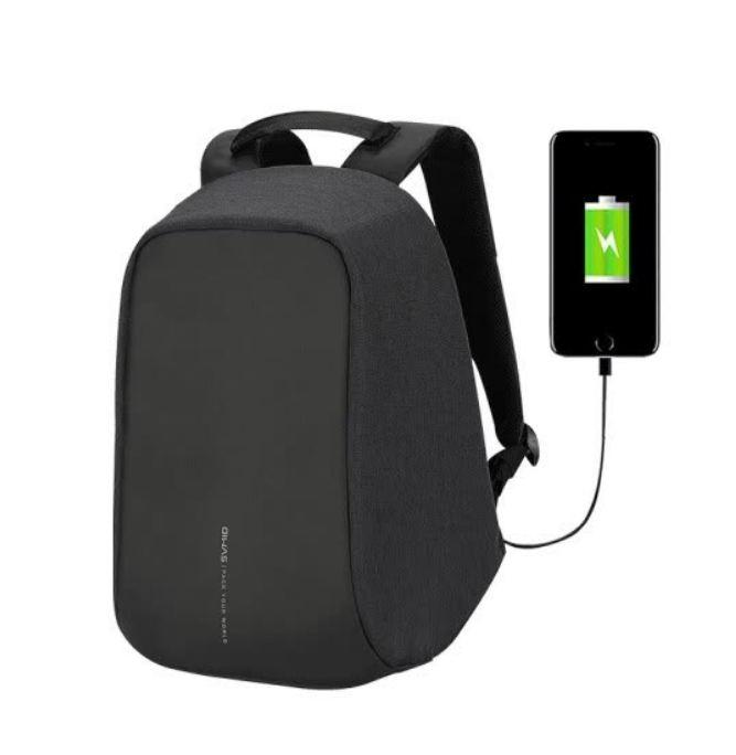 "Рюкзак Oiwas Антивор для ноутбука 14"" с USB портом ( bobby design backpack)"