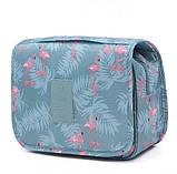Дорожная сумка-органайзер для косметики подвесная на крючке Фламинго, фото 2