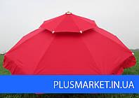 Зонт торговый Антиветер с 2мя куполами 3 м. Парасоля., фото 1