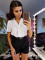 Костюм женский модный рубашка и высокие шорты Ds1717, фото 1