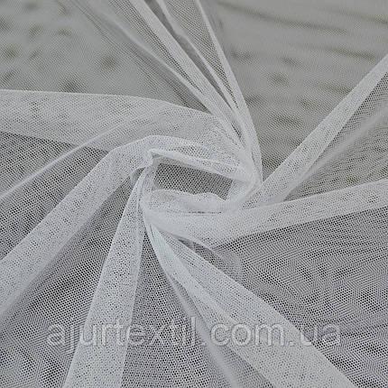 Фатин однотонный белый, фото 2