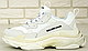 Женские кроссовки Balenciaga Triple S White Многослойная подошва, фото 2
