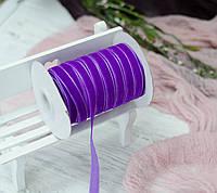 Бархатная лента 1 см. фиолет