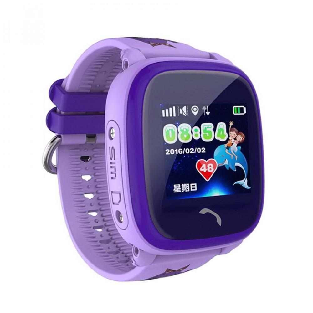 Детские умные часы Smart Baby Watch DF25 Waterproof с GPS трекером— Lilac