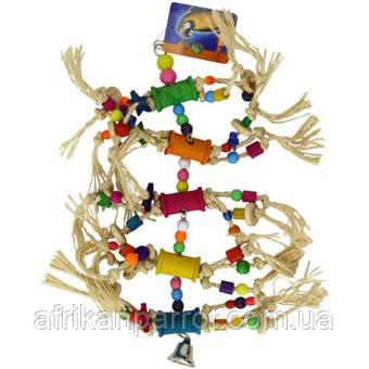 Дерев'яна іграшка для папуги(Опудало)