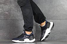 Мужские текстильные кроссовки Nike Air Huarache,темно синие, фото 2
