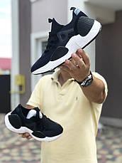 Мужские текстильные кроссовки Nike Air Huarache,темно синие, фото 3