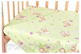 Детское постельное сменное белье в кроватку / в манеж Qvatro Gold 3в1: наволочка, пододеяльник, простынь