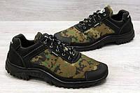 Мужские камуфляжные кроссовки на протекторной подошве (Кз-16зл)
