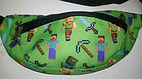 Поясная сумка зеленого цвета с принтом Майнкрафт