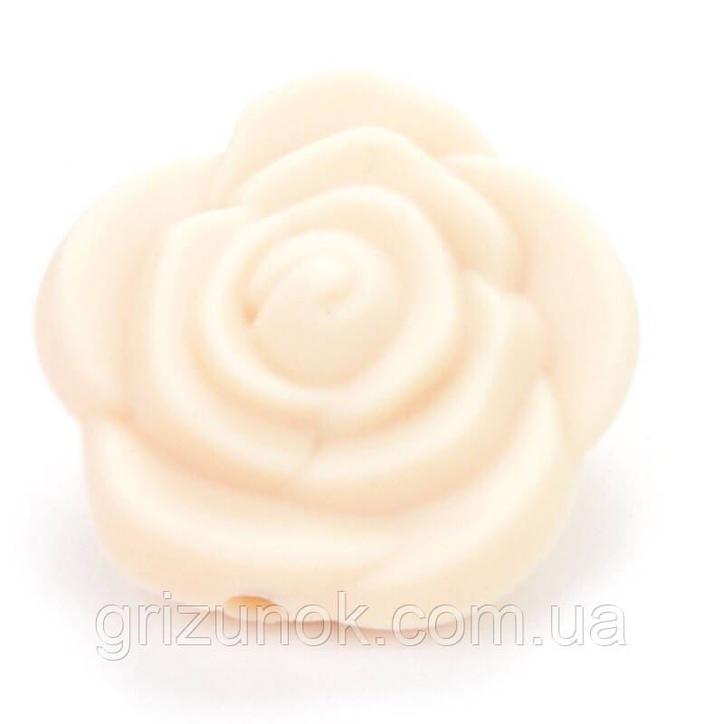 Роза 21*21*19 мм (бежевый)