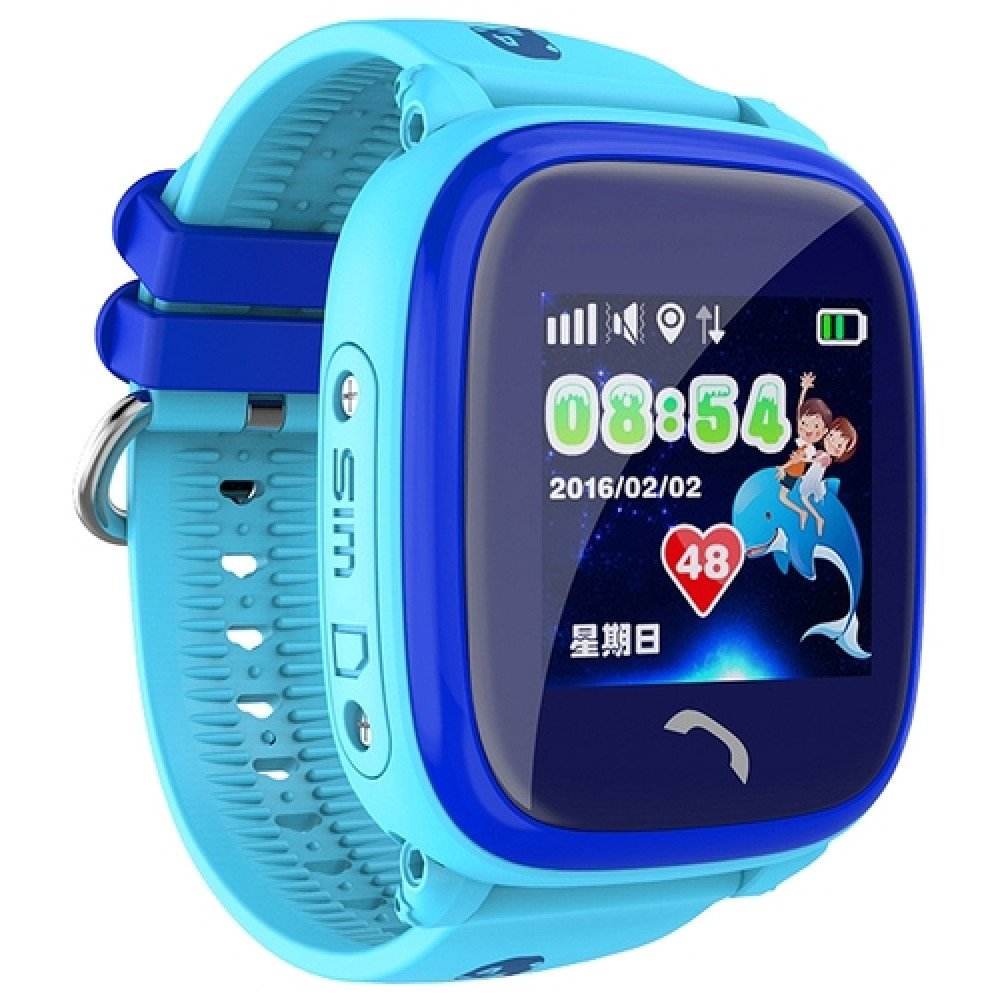 Детские умные часы Smart Baby Watch DF25 Waterproof с GPS трекером— Blue