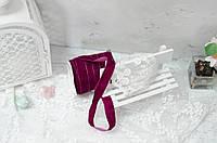 Бархатная лента 2.5 см. фиолетово-вишневая