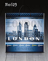 """Пакет с пластиковой ручкой 40х40 10шт. """" Лондон """""""
