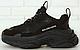 Женские кроссовки Balenciaga Triple S Black Многослойная подошва (Баленсиага Трипл С черные), фото 2