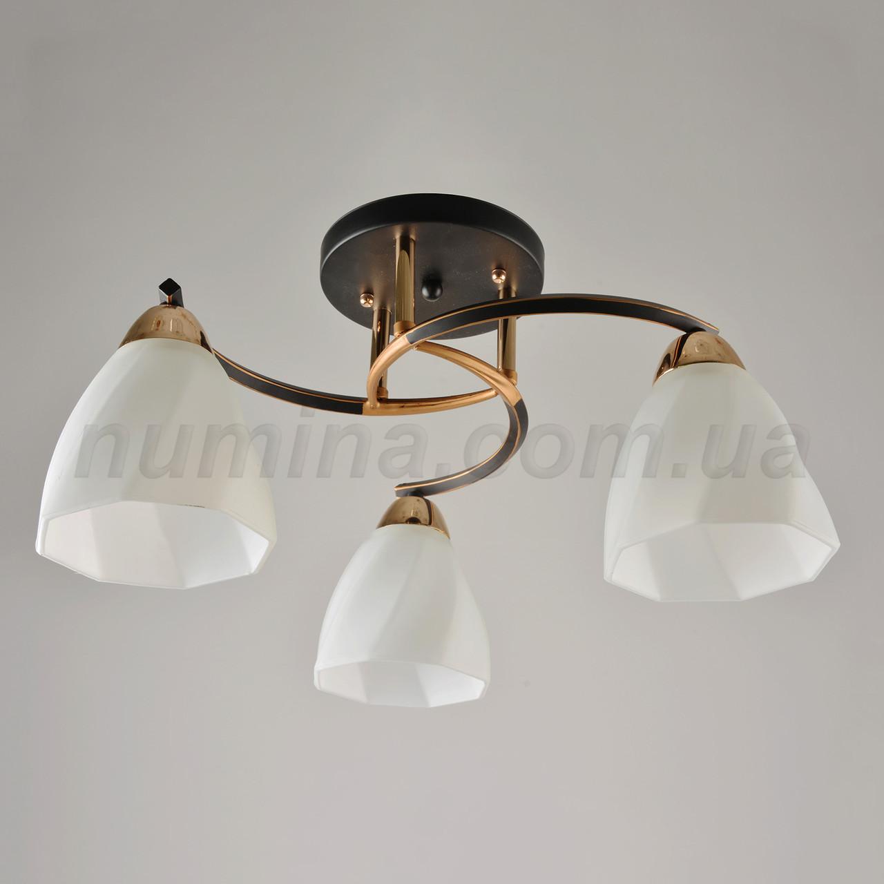 Люстра потолочная на три лампы 14-67323/3 BK+FG