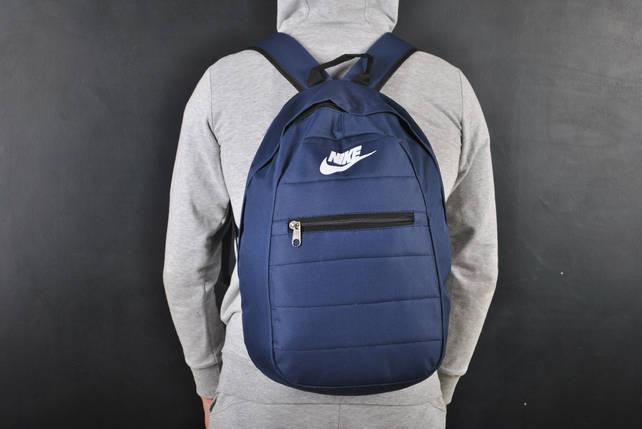 Мужской рюкзак в стиле Nike темно-синий, фото 2