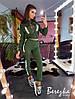 Костюм стильный актуальный бомбер и брюки карго со светоотражающими вставками Ds1719