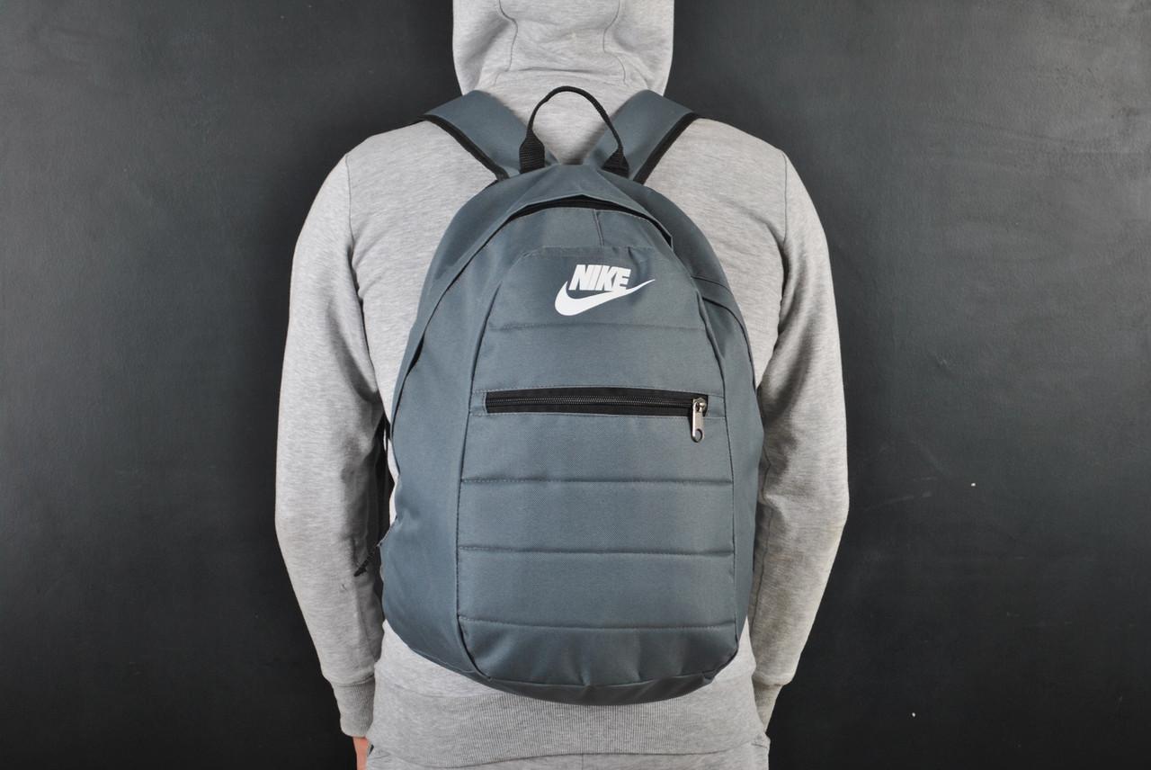 Мужской рюкзак в стиле Nike серый