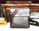 Мужская сумка Polo Kraist коричневая, фото 2