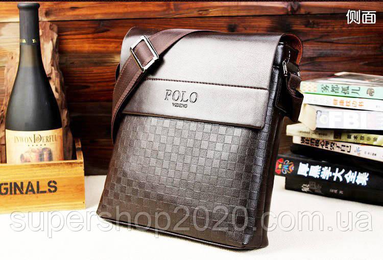 Мужская сумка Polo Kraist коричневая