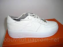 Новые женские белые высокие кроссовки Nike 36-40р Киев