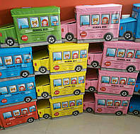"""Пуф, Корзина для игрушек """"школьный автобус"""""""
