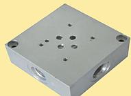 Плита переходная монтажная с клапаном для распределителя Ду6 (ВЕ6, РХ06, 4WE6) на 3шт